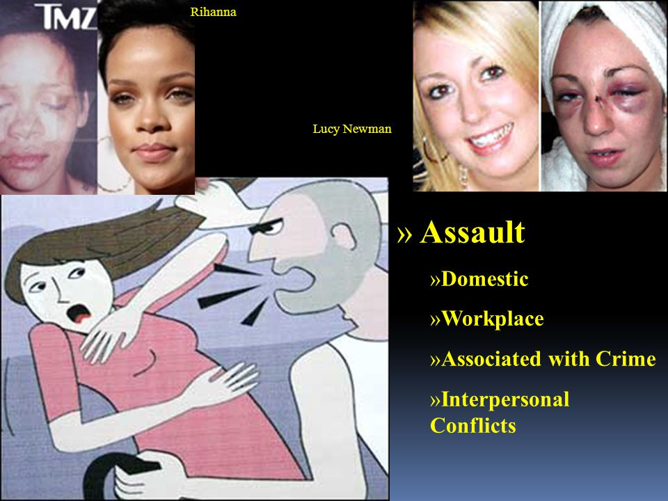 Rihanna Lucy Newman » Assault »Domestic »Workplace »Associated with Crime »Interpersonal Conflicts