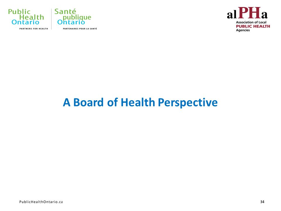 A Board of Health Perspective 34