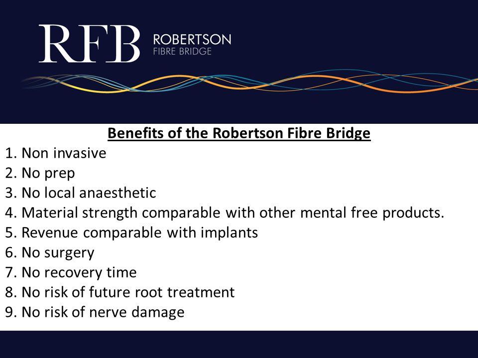 Benefits of the Robertson Fibre Bridge 1. Non invasive 2.