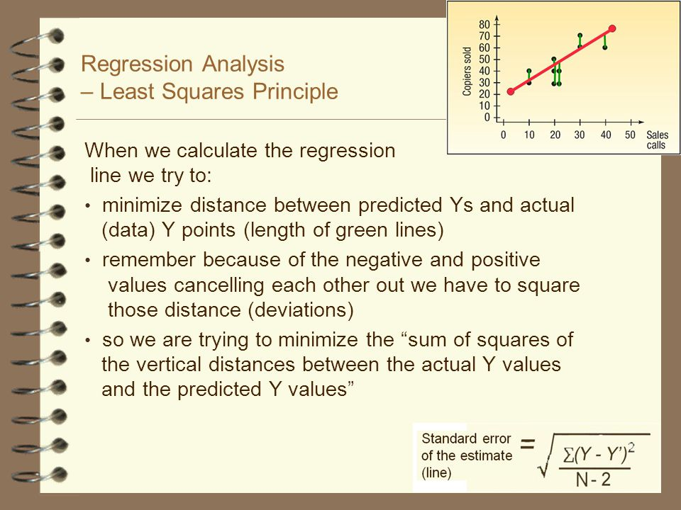 An example for The Standard Error of Estimate The standard error of estimate measures the scatter, or dispersion, of the observed values around the line of regression A formula that can be used to compute the standard error: Standard error of the estimate (line)