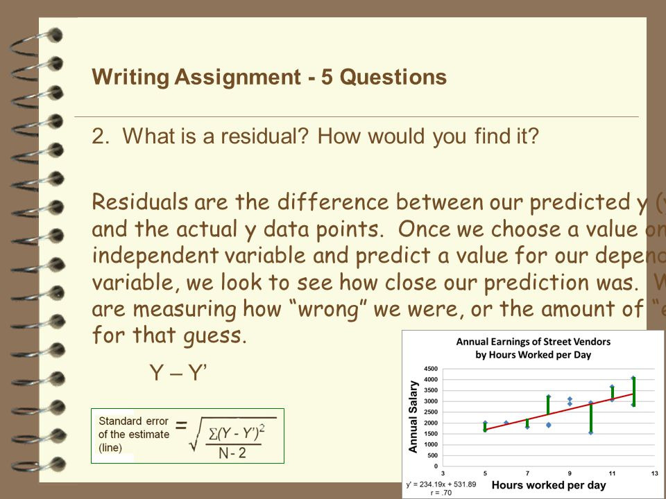 Writing Assignment - 5 Questions Regressions are used to take advantage of relationships between variables described in correlations.