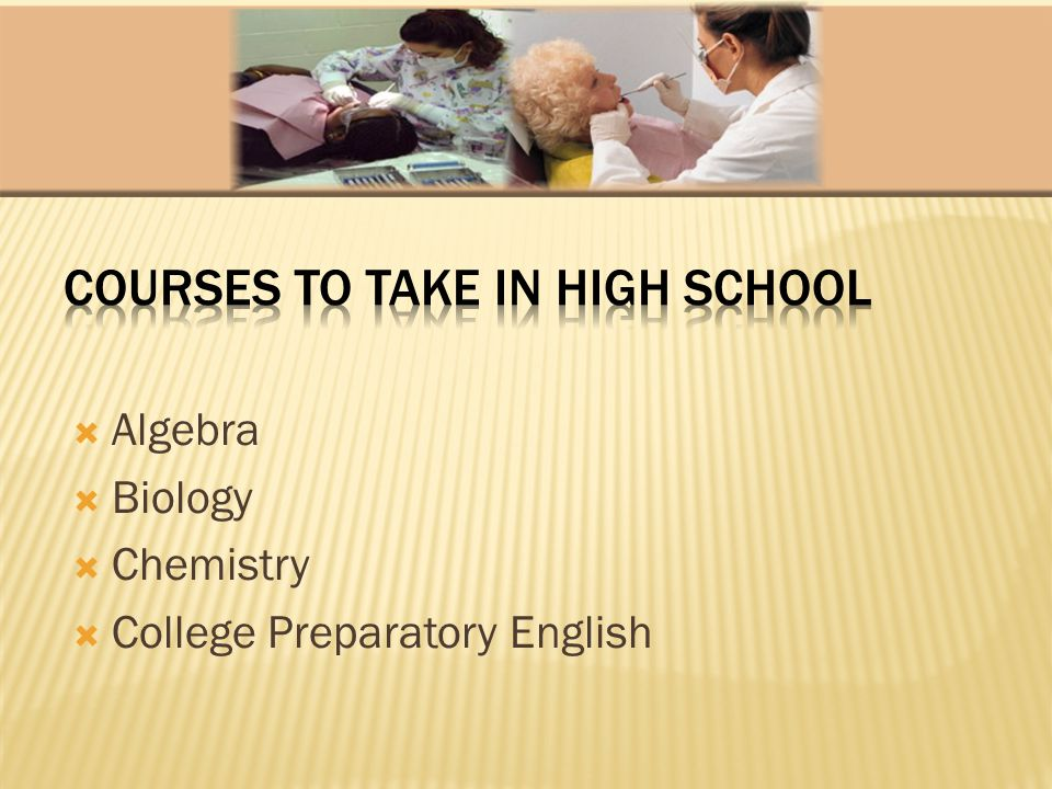 Algebra Biology Chemistry College Preparatory English