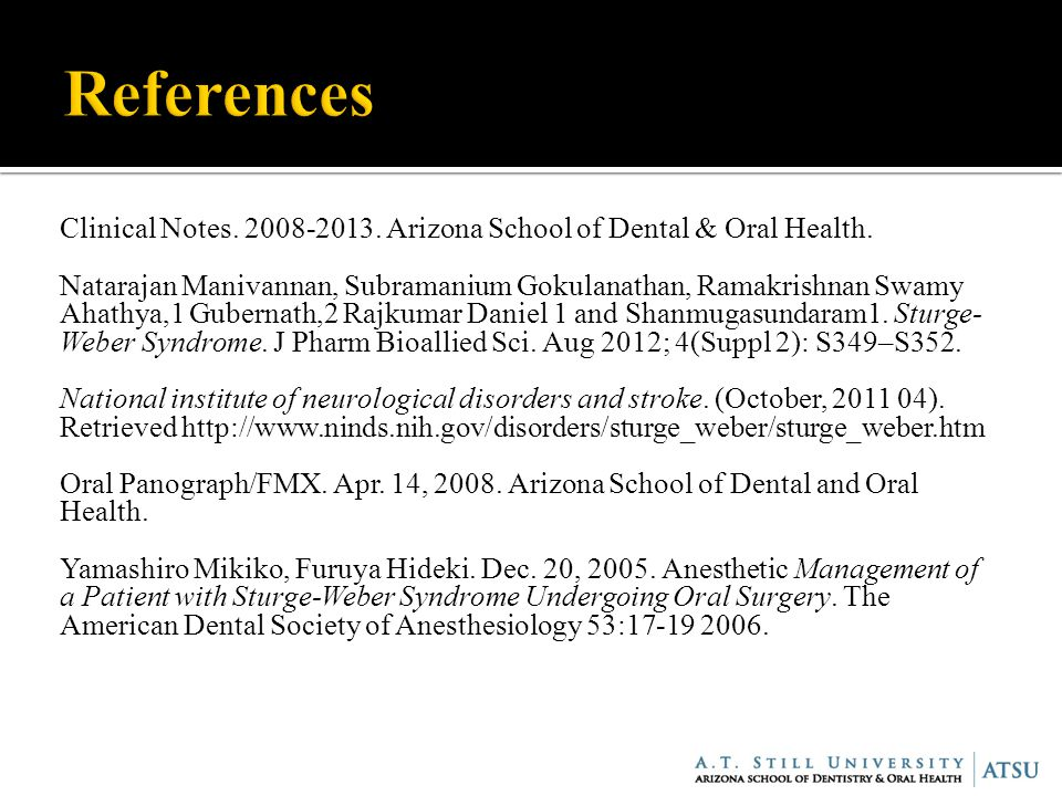 Clinical Notes Arizona School of Dental & Oral Health.