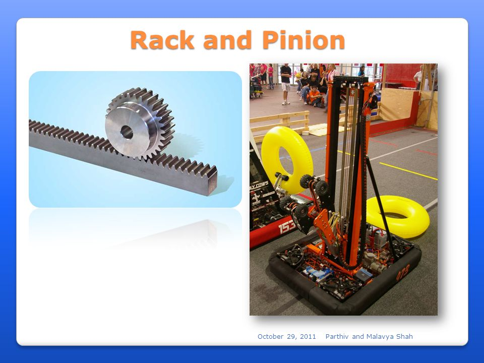 October 29, 2011Parthiv and Malavya Shah Rack and Pinion