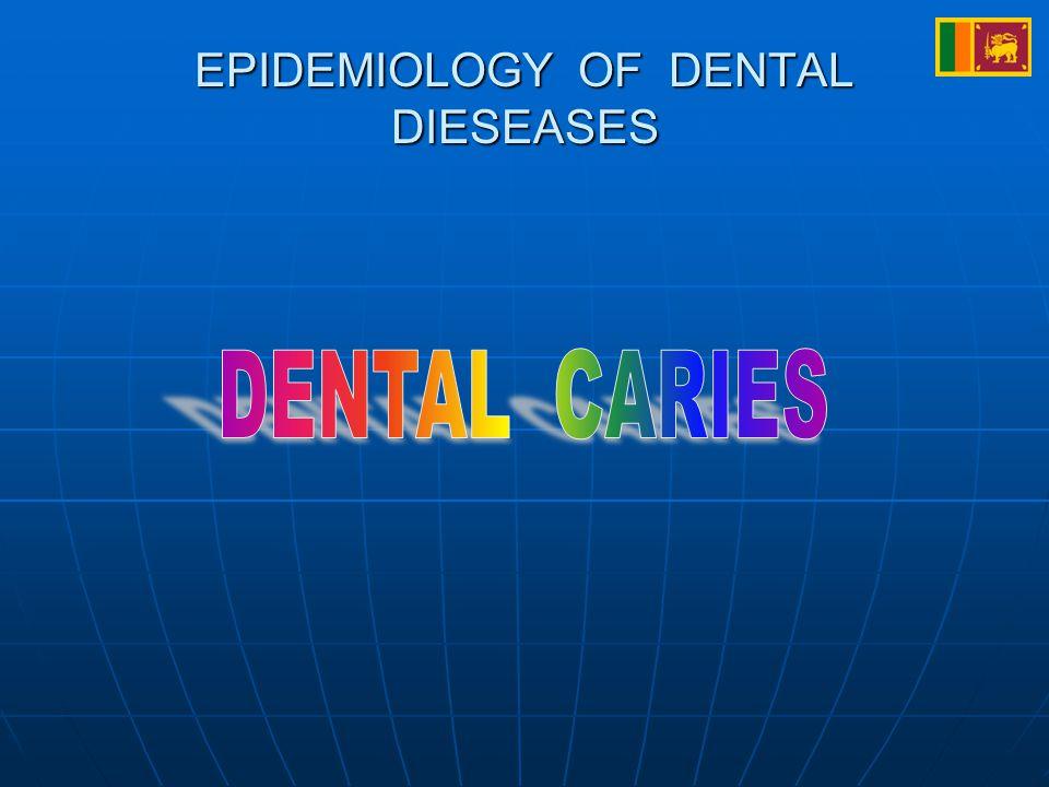 EPIDEMIOLOGY OF DENTAL DIESEASES