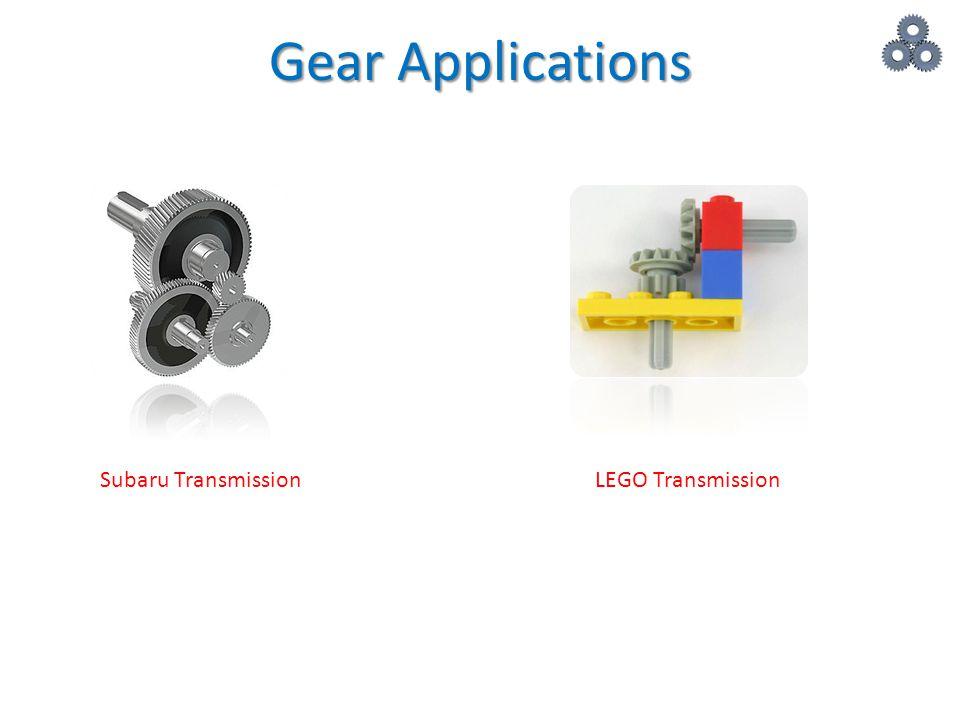 Gear Applications Subaru Transmission LEGO Transmission