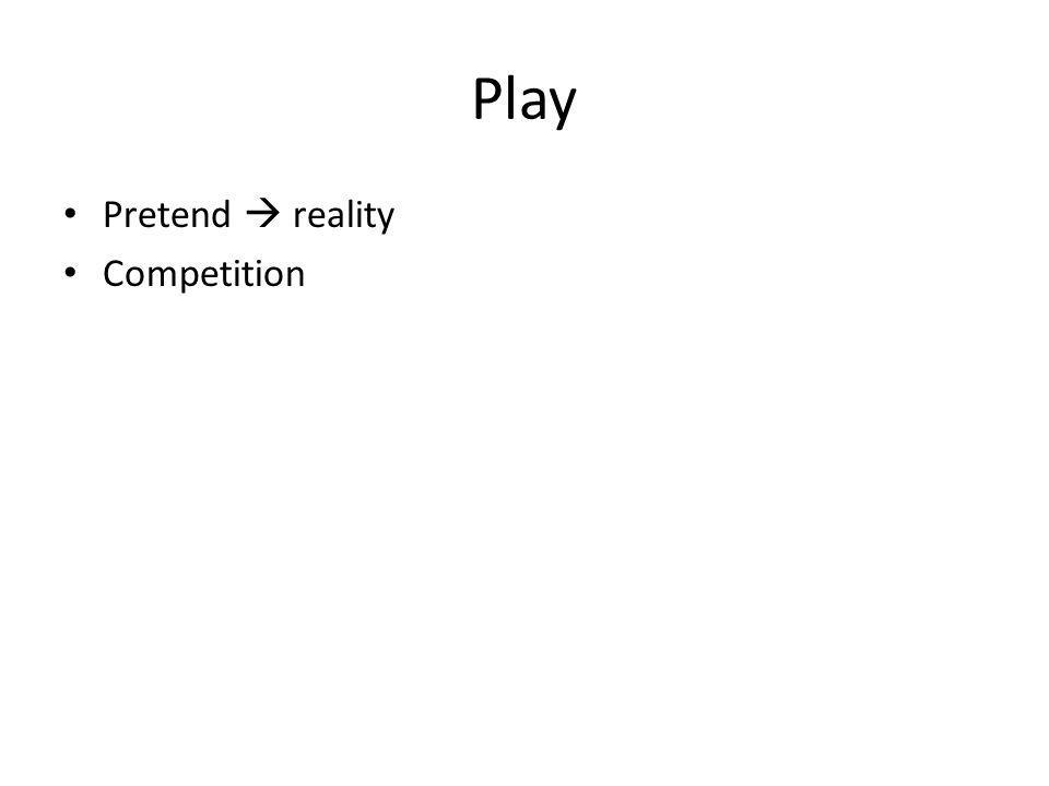 Play Pretend reality Competition