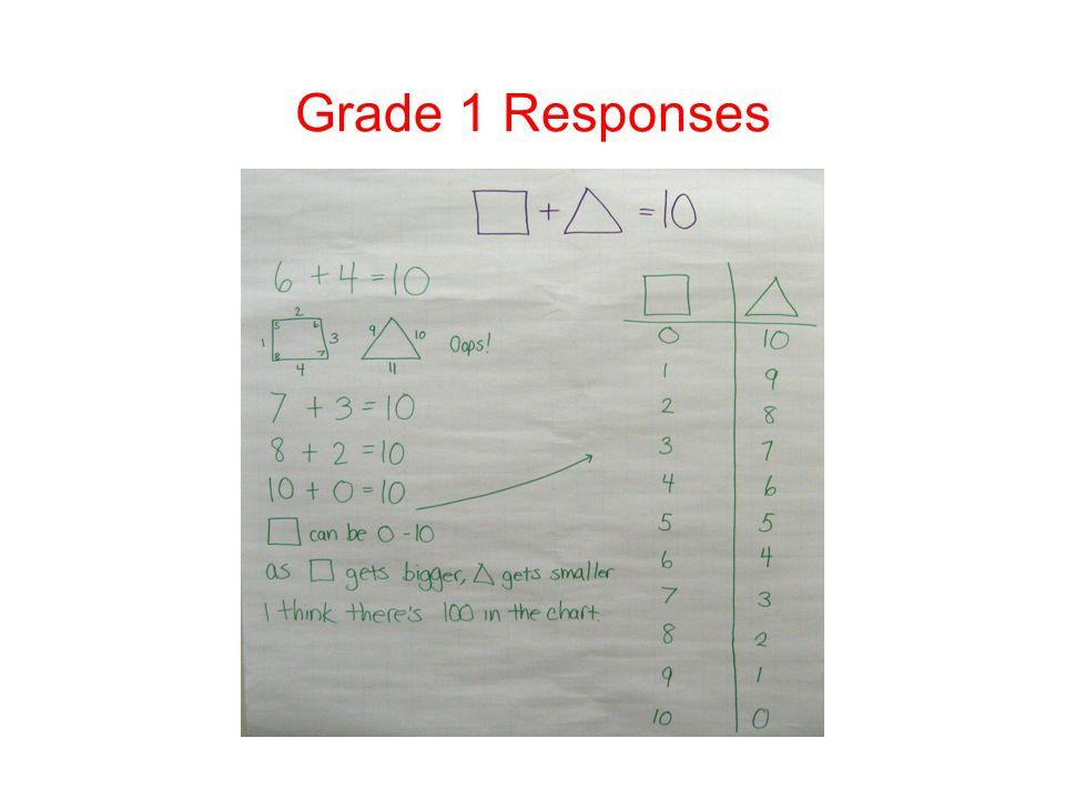 Grade 1 Responses