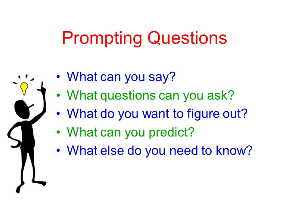 Prompting Questions What can you say. What questions can you ask.