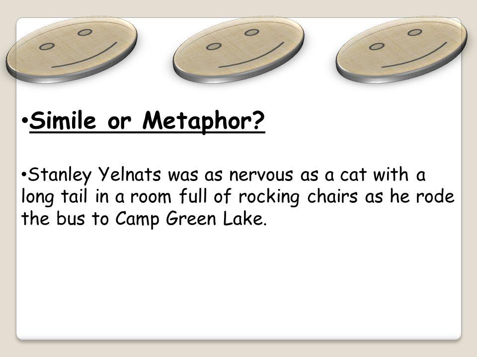 Simile or Metaphor? Zero was a mole as he dug his five-foot deep hole.