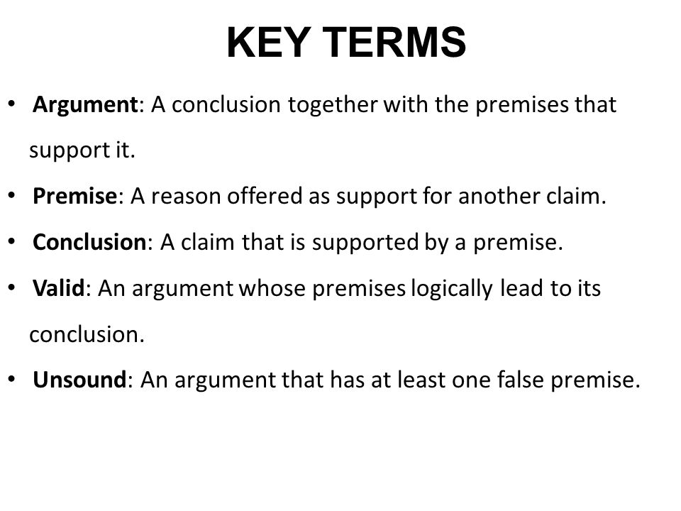 KEY TERMS Induction A process of reasoning in which we use small, specific examples or observation to reach a BIG, general rule, conclusion or theory