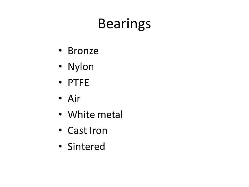 Bronze Nylon PTFE Air White metal Cast Iron Sintered