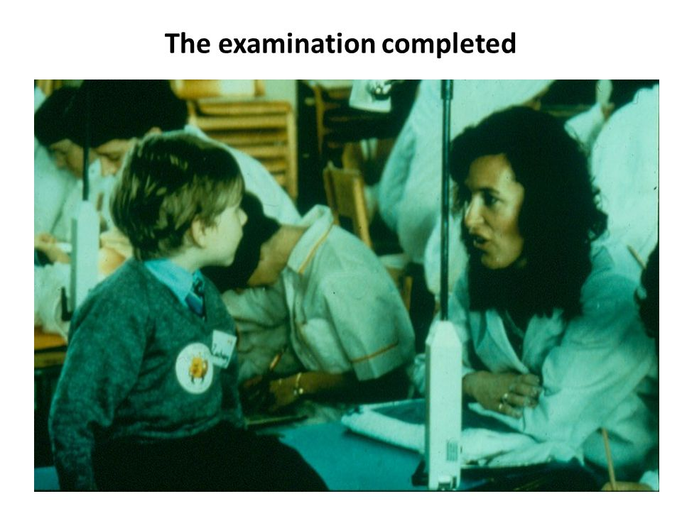 The examination completed