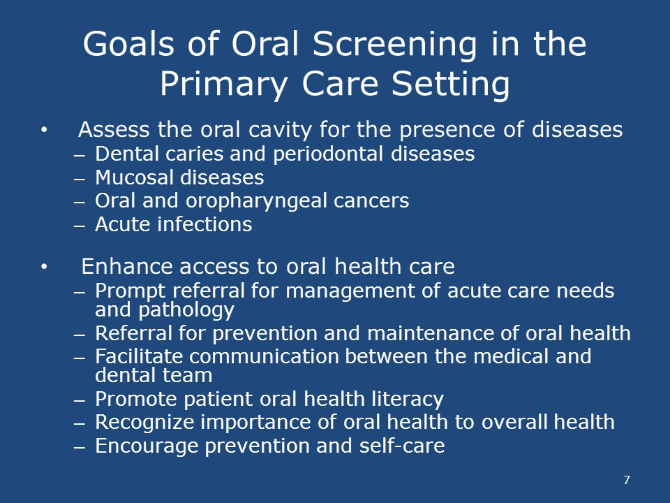 Oral Healthcare Access Barriers 48 – Low motivation or lack of awareness of importance of oral health – Dental anxiety and fear – Shortage of dentists trained and willing to treat patients with HIV/AIDS – Lack of dental insurance coverage – Limited financial resources – Declining levels of adult dental Medicaid coverage