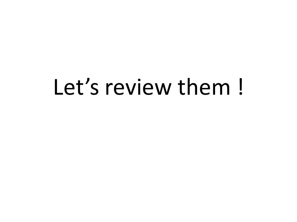 Lets review them !
