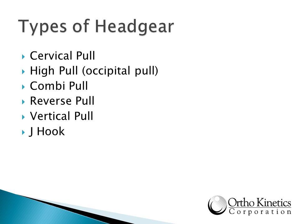 Cervical Pull High Pull (occipital pull) Combi Pull Reverse Pull Vertical Pull J Hook