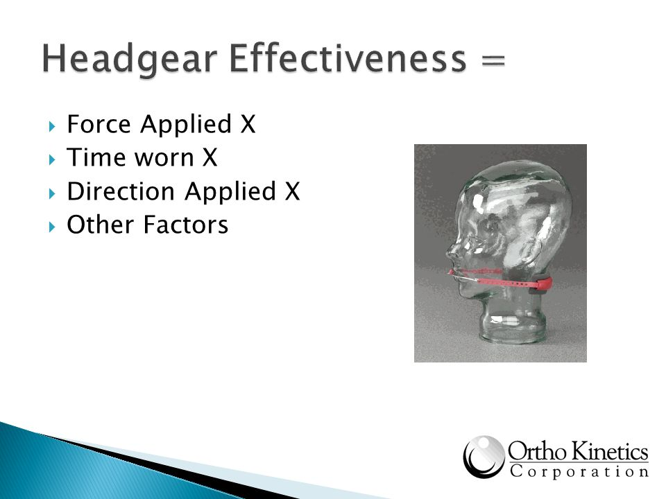 Force Applied X Time worn X Direction Applied X Other Factors