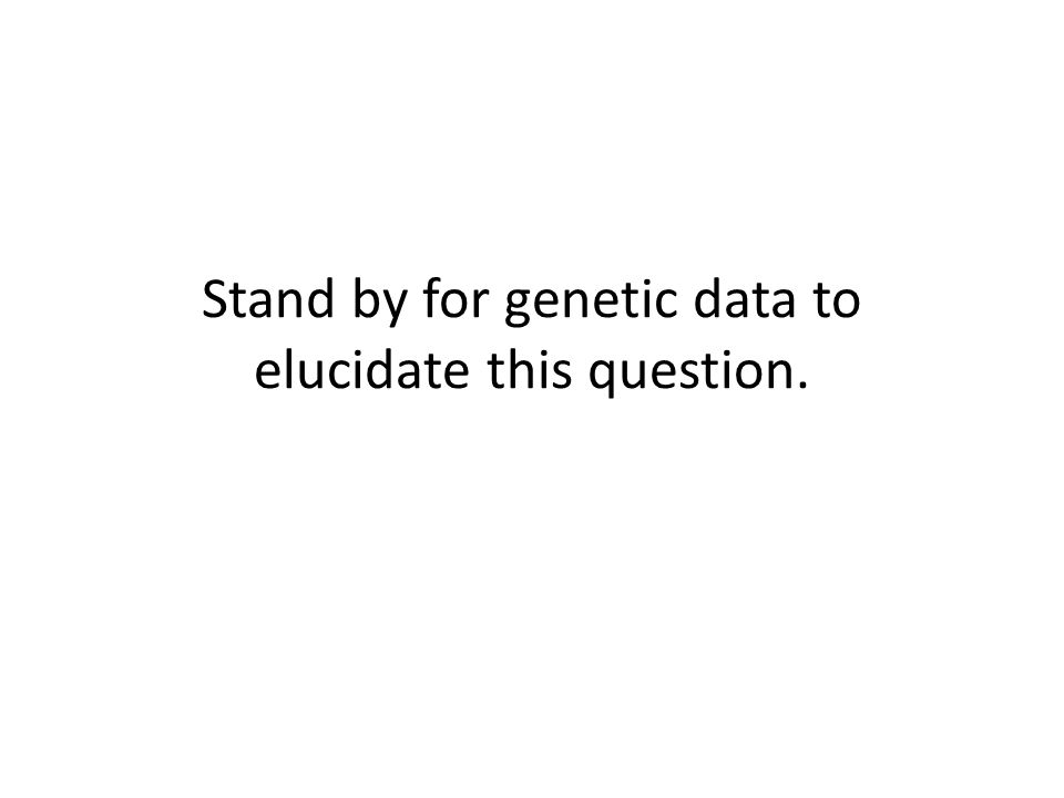 Stand by for genetic data to elucidate this question.