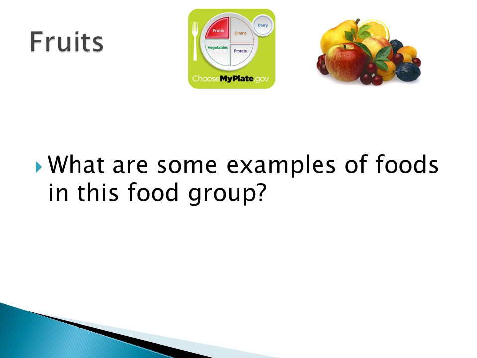 What are some examples of foods in this food group