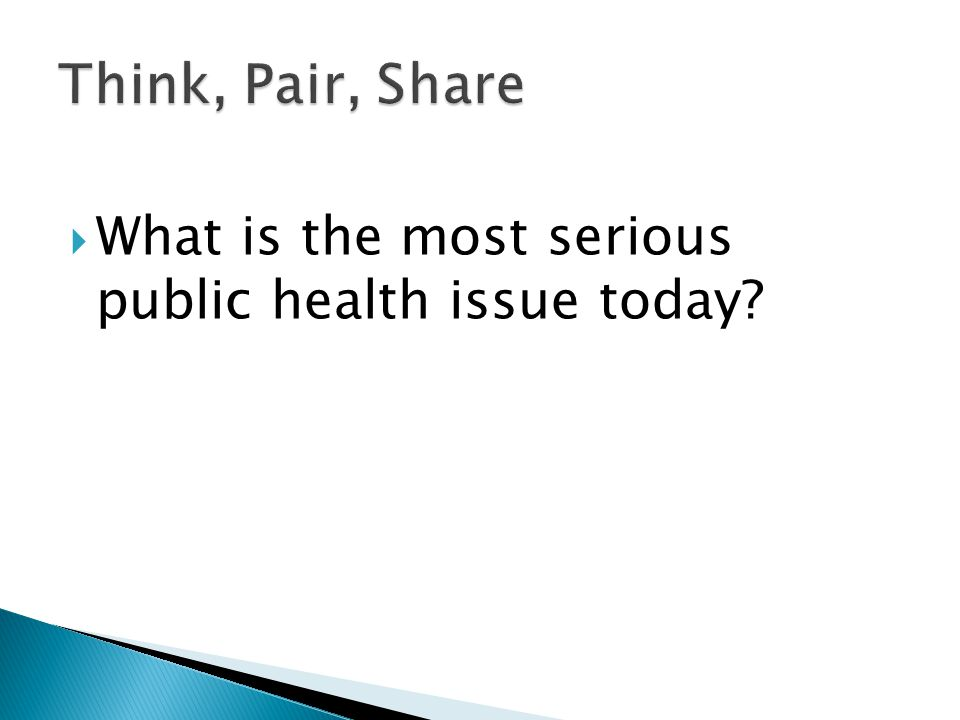 What is the most serious public health issue today