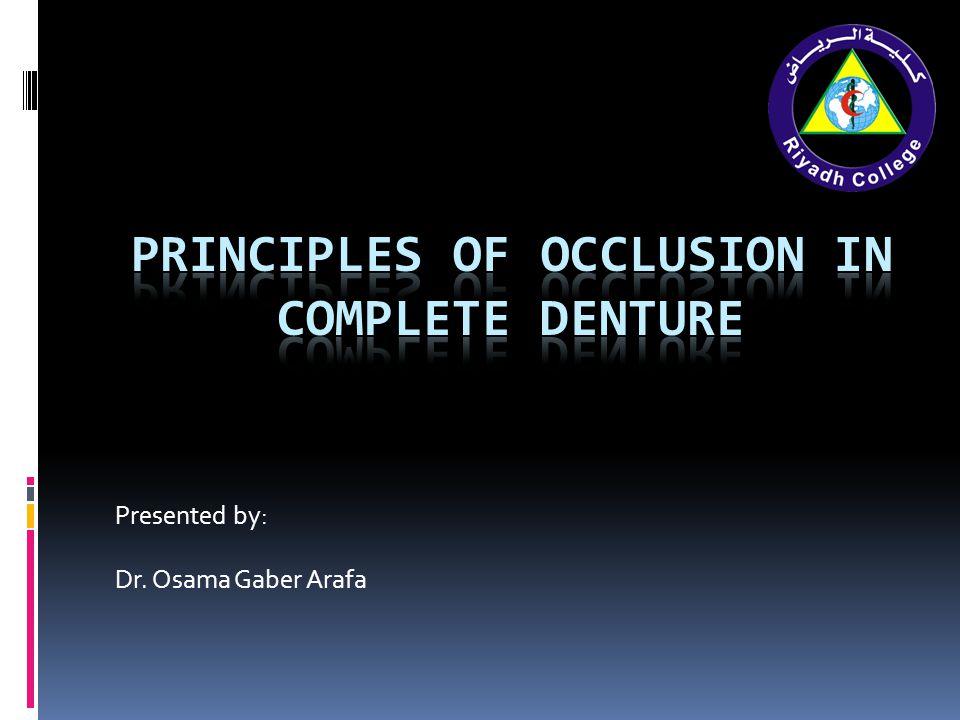 Presented by: Dr. Osama Gaber Arafa