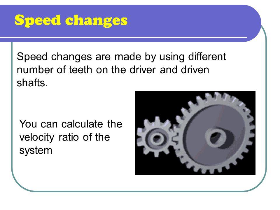 Calculation Gears formula: n1.Z1 = n2.