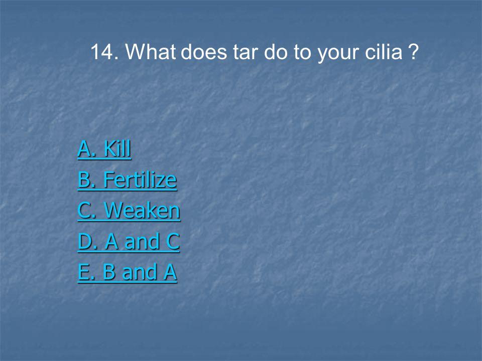 A. Kill A. Kill B. Fertilize B. Fertilize C. Weaken C.