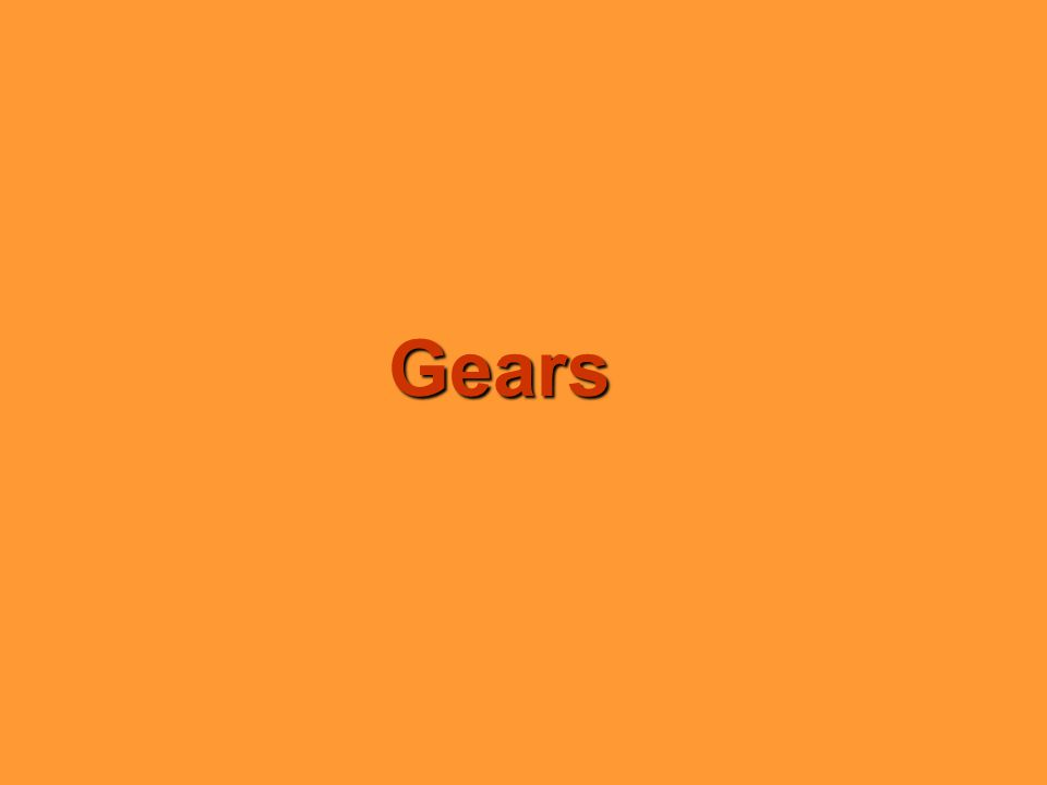 Gear Types Rack and Pinion (90% efficiency) Bevel Gears (70% efficiency) Spur Gears (90% efficiency) Helical / Double Helical (80% efficiency) Worm and Pinion (70% efficiency) Crown Gear Equal Wheel Resistance Differential Gearing Unequal Wheel Resistance Epicyclic or Planetary Gears (80% efficiency)