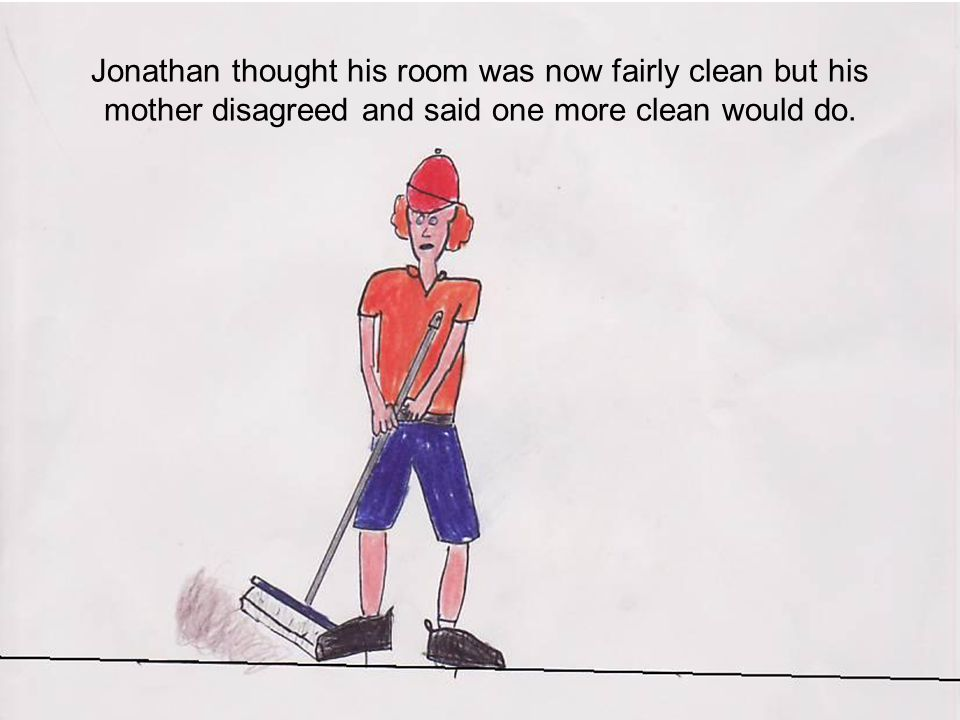 Jonathan brushed his teeth and hair that night, he even thought about taking a shower.