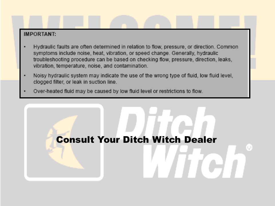 Consult Your Ditch Witch Dealer