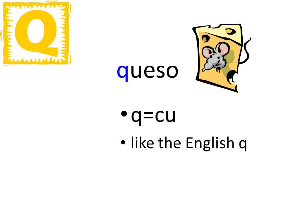 queso q=cu like the English q