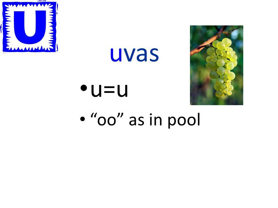 uvas u=u oo as in pool
