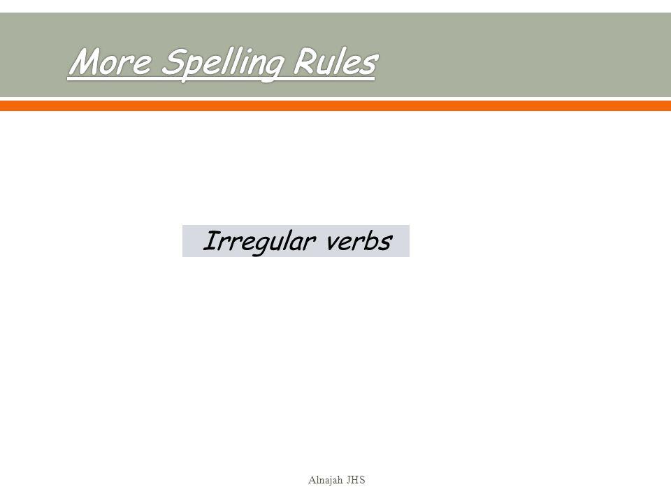 Irregular verbs Alnajah JHS