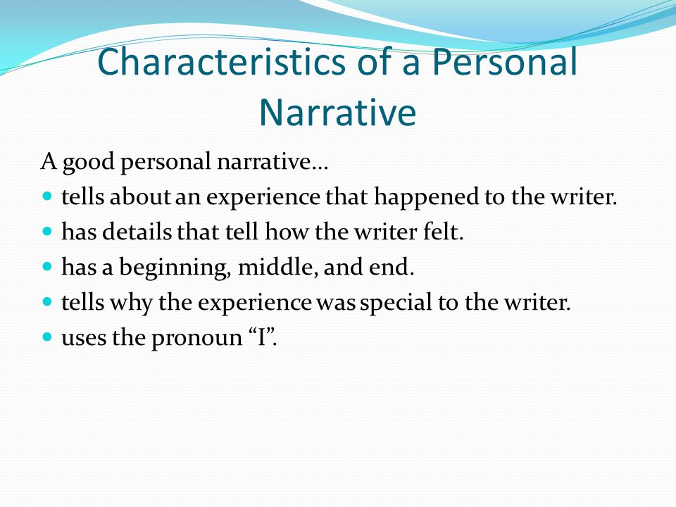 How do you choose what event or experience to write about.