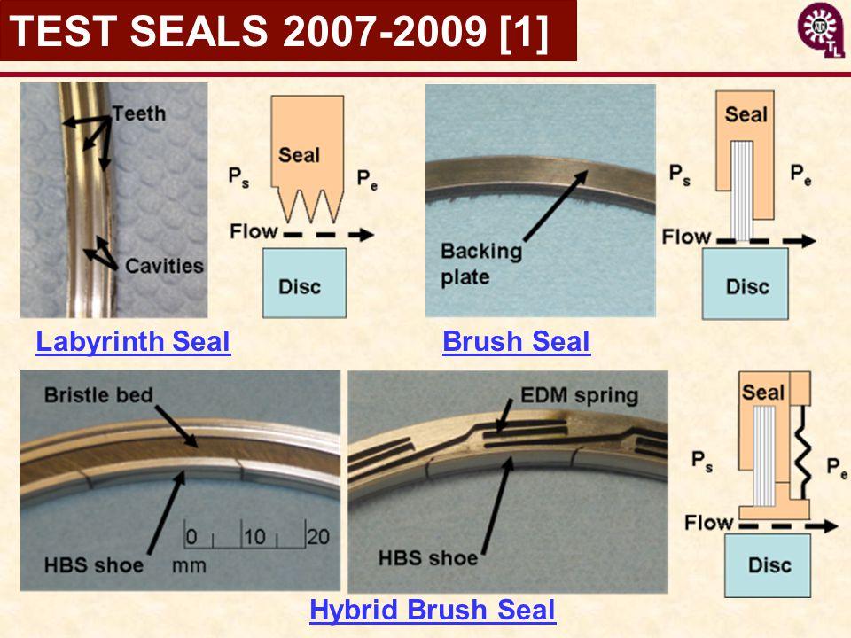 TEST SEALS 2007-2009 [1] Labyrinth Seal Brush Seal Hybrid Brush Seal