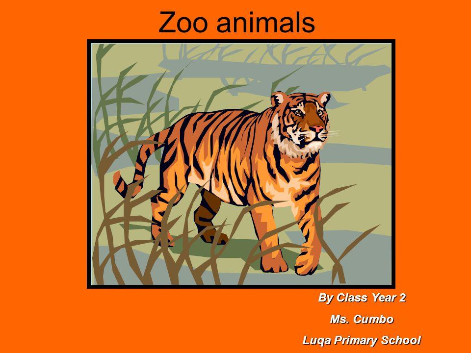 Zoo animals By Class Year 2 Ms. Cumbo Luqa Primary School