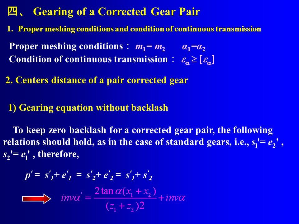 2 Addendum and dedendum Positive modification gear x>0 Reference circle Standard gear x 0 Negative modification gear x<0