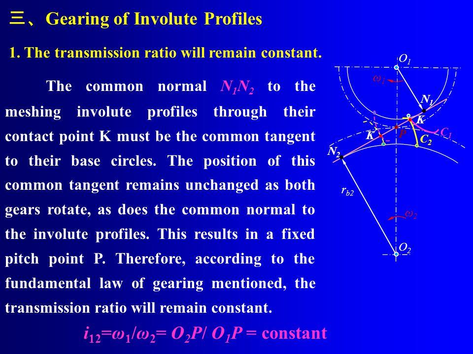 A1A1 B1B1 O1O1 A2A2 K O2O2 B2B2 O3O3 B3B3 5 No involute exists inside its base circle. Equation of the Involute t t B K O A rkrk θkθk rbrb αkαk rbrb α