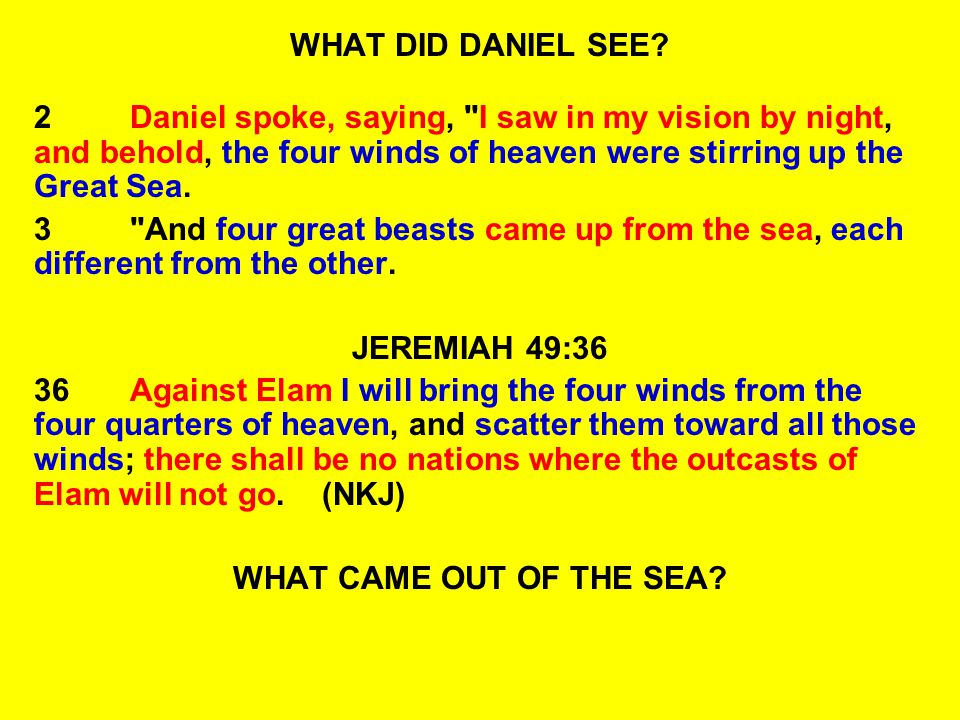 READ:DANIEL 7:21-23 21 I was watching; and the same horn was making war against the saints and prevailing against them, 22Until the Ancient of Days came, and a judgment was made in favor of the saints of the Most High, and the time came for the saints to possess the kingdom.