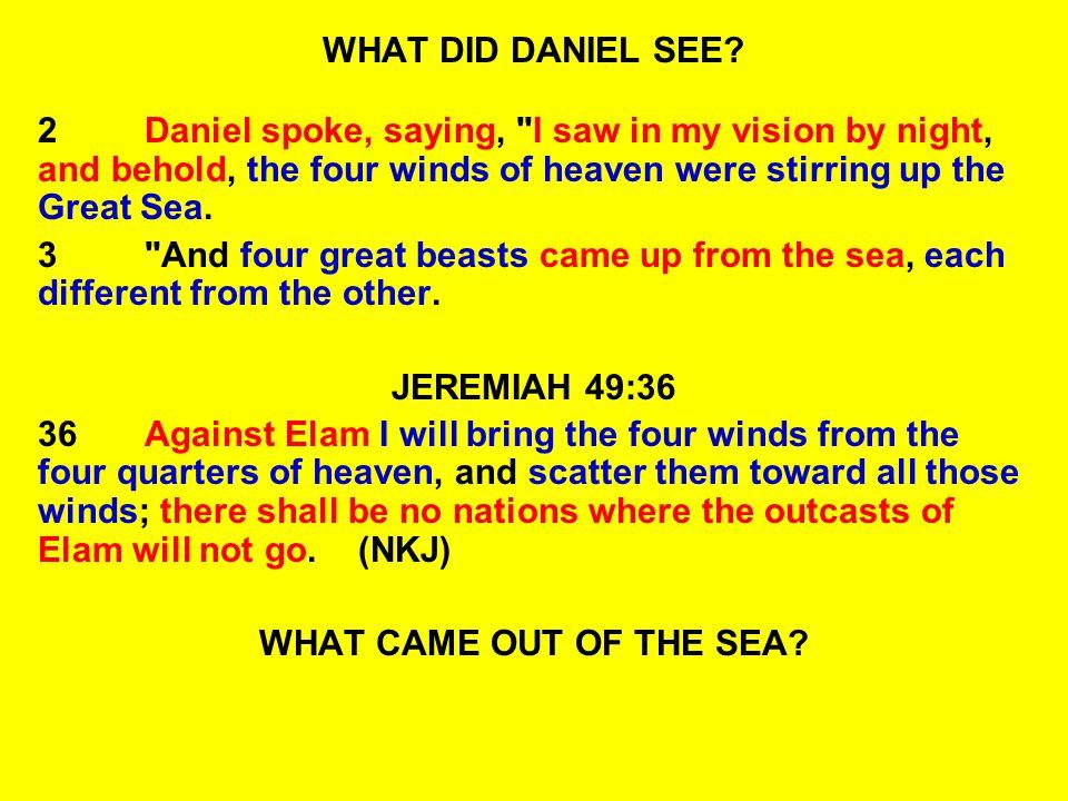 WHAT DID DANIEL SEE? 2Daniel spoke, saying,