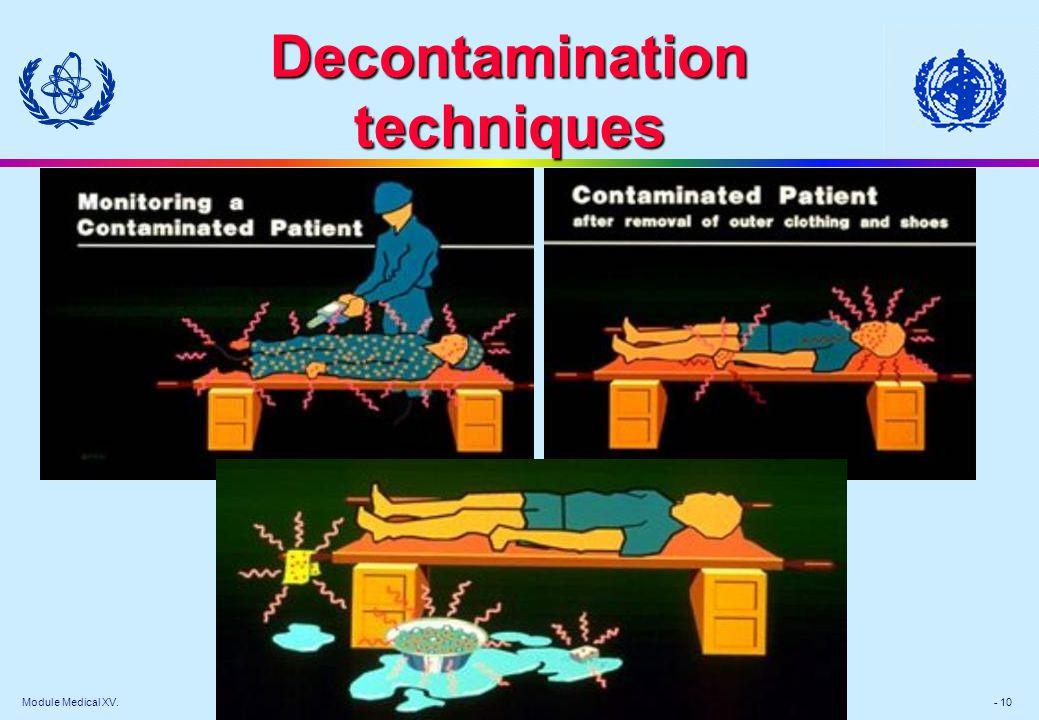 Module Medical XV. - 10 Decontamination techniques