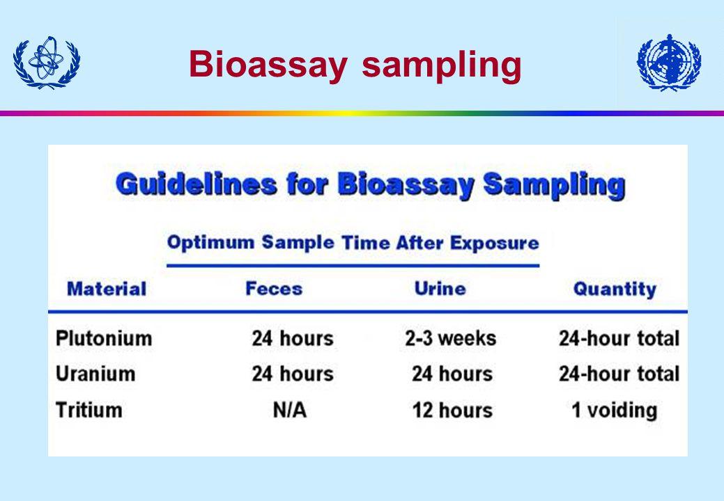 Bioassay sampling