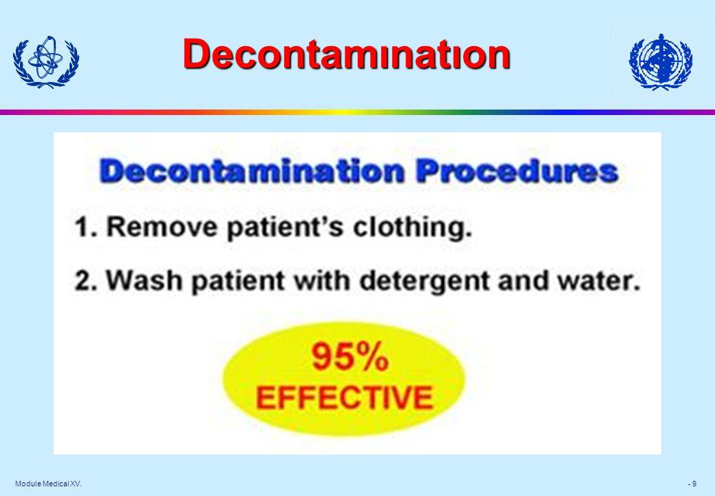 Module Medical XV. - 9 Decontamınatıon