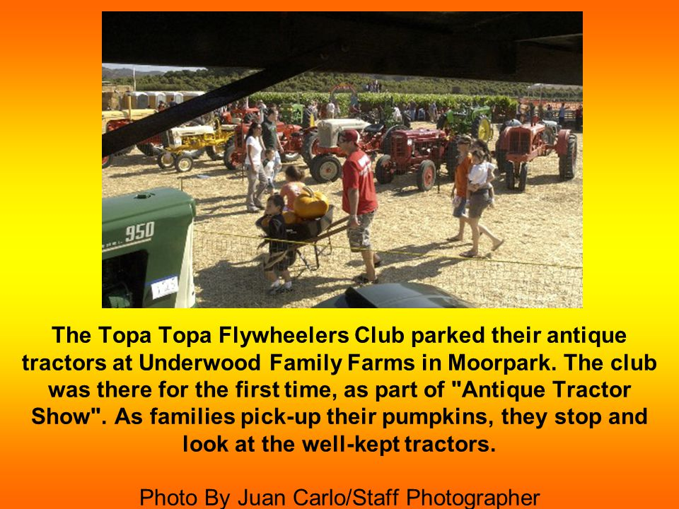 With her fake teeth, Maureen Albrecht of Arcadia, drives her International Cub Lo-Boy tractor and is a member of the Topa Topa Flywheelers Club.
