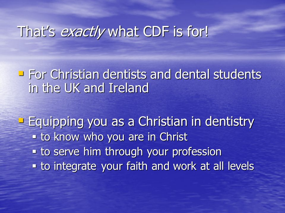 Thats exactly what CDF is for.