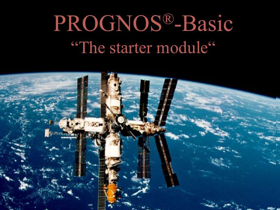 PROGNOS ® -Basic The starter module