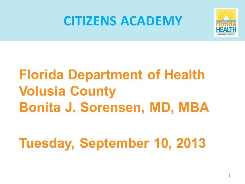 1 Florida Department of Health Volusia County Bonita J.
