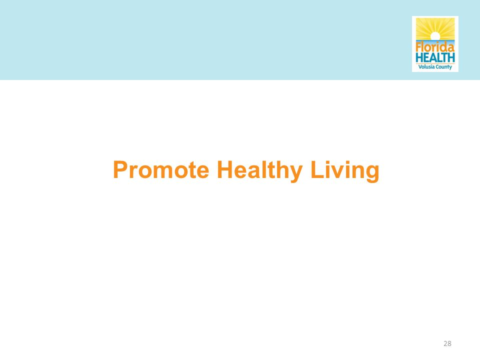 28 Promote Healthy Living