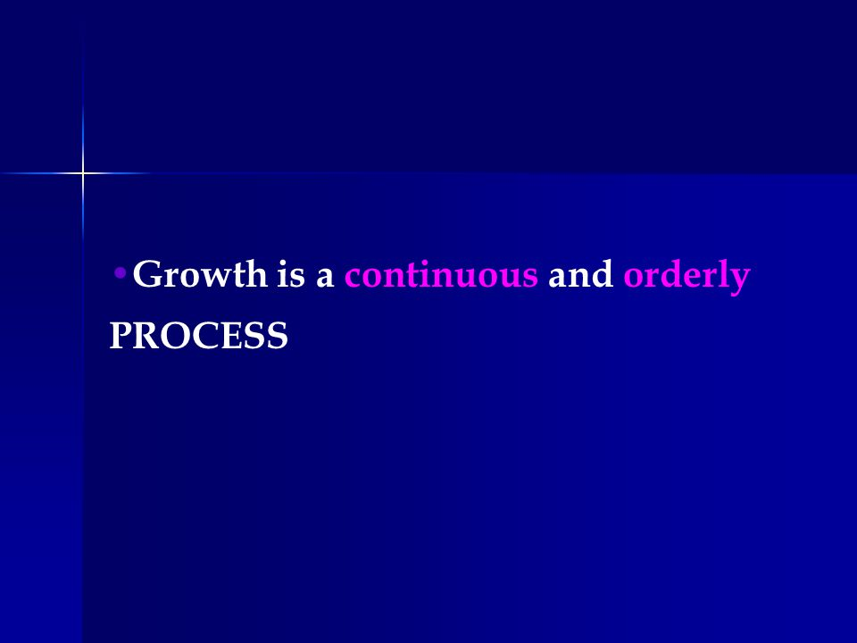 Growth velocity can show the process of growth.