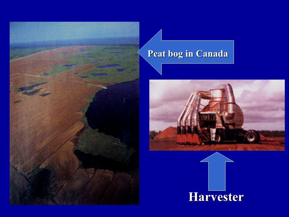 Peat bog in Canada Harvester